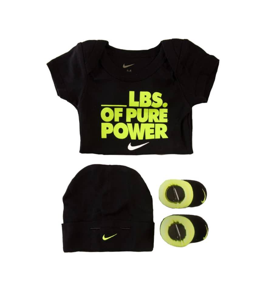 5cd5fbd0b6e Nike POUNDS OF POWER 3PC ONESIE (Black) - IBSP0953