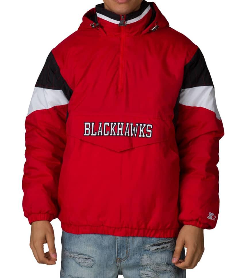 a36d352562e Starter NHL CHICAGO BLACKHAWKS PULLOVER JACKET (Red) - LA5V0087CHW ...