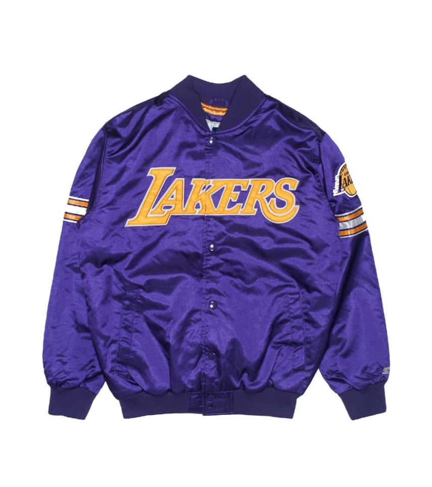 Starter LA LAKERS POLYFILL NBA SATIN JACKET (Purple) - LAP30090 ... 72b7bf50403e