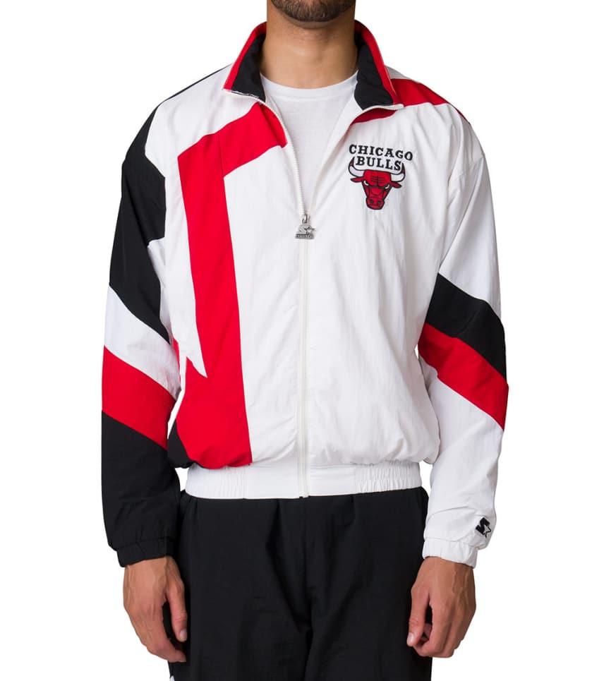 7b81354d Starter MENS Chicago Bulls Track Jacket White. Starter - Outerwear - Chicago  Bulls Track Jacket Starter - Outerwear - Chicago Bulls Track Jacket ...