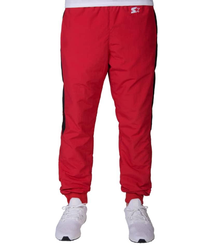 Starter Chicago Bulls NYlon Track Pants (Red) - LS830599CG  87e0a52b6898