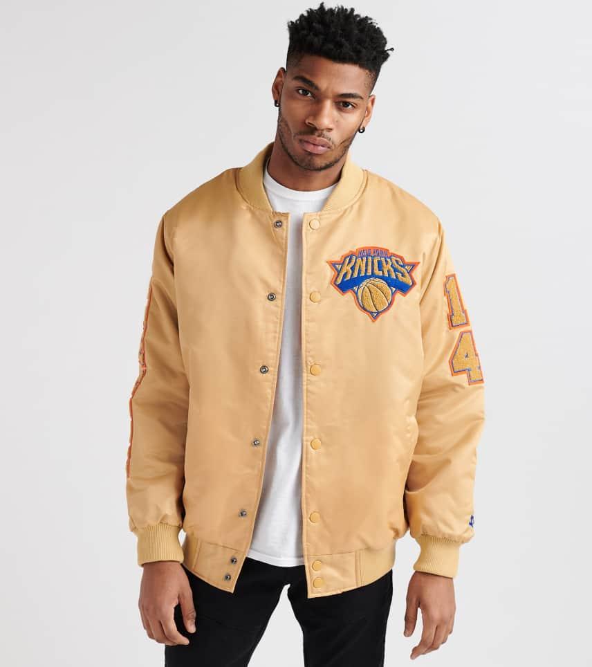 161ec52c21e ... Starter - Outerwear - New York Knicks Chenille Patch Jacket ...