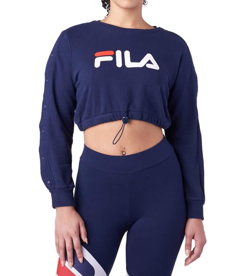 0de87348b8c47 FILA Charlotte Crop Sweatshirt (Navy) - LW183Z75-410 | Jimmy Jazz