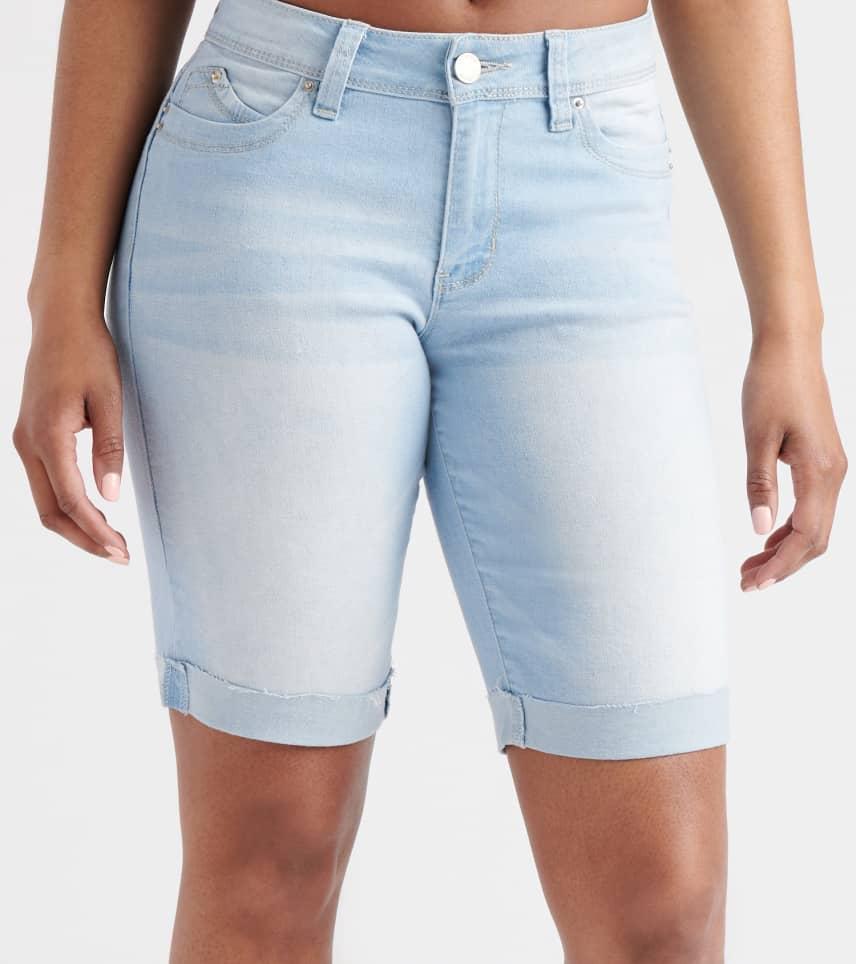 773ef4354c Essentials Mid-Rise Roll Cuff Shorts (Blue) - M102156-L02 | Jimmy Jazz