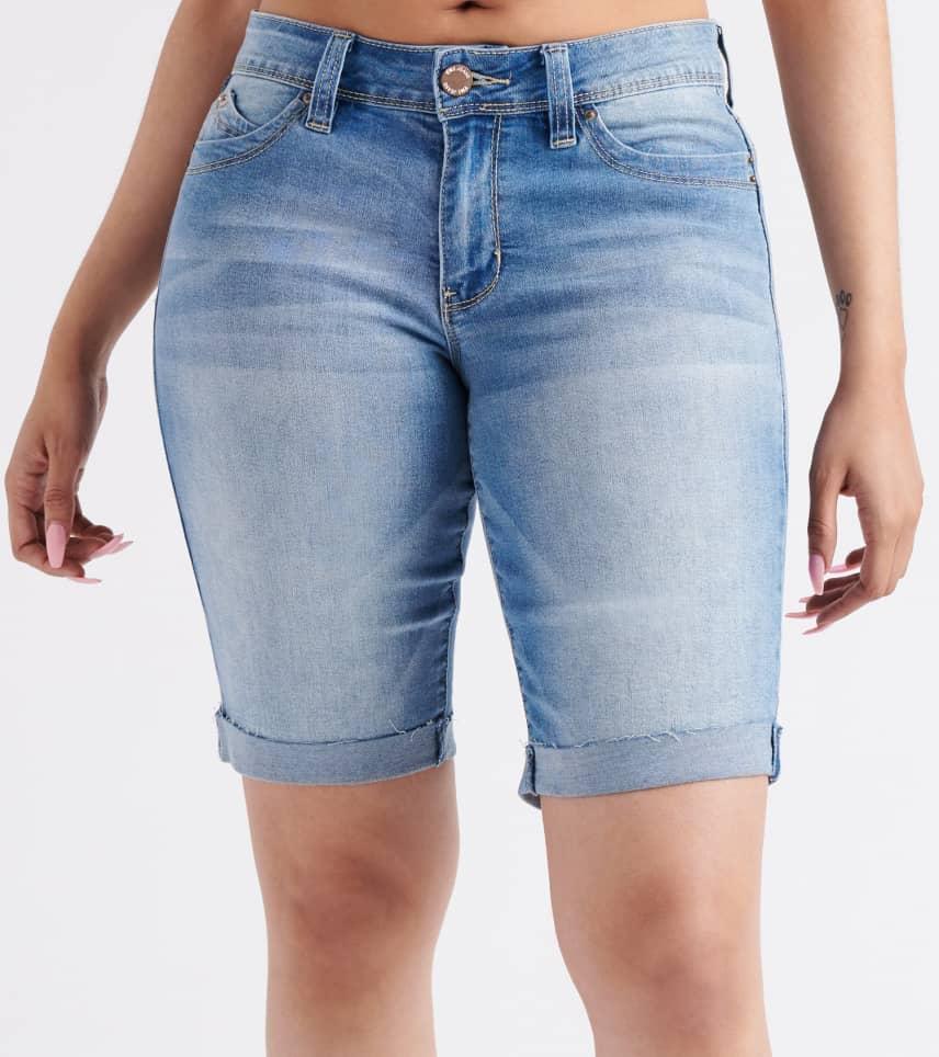 9b2aadce54 Essentials Mid-Rise Roll Cuff Shorts (Blue) - M102156-M02 | Jimmy Jazz