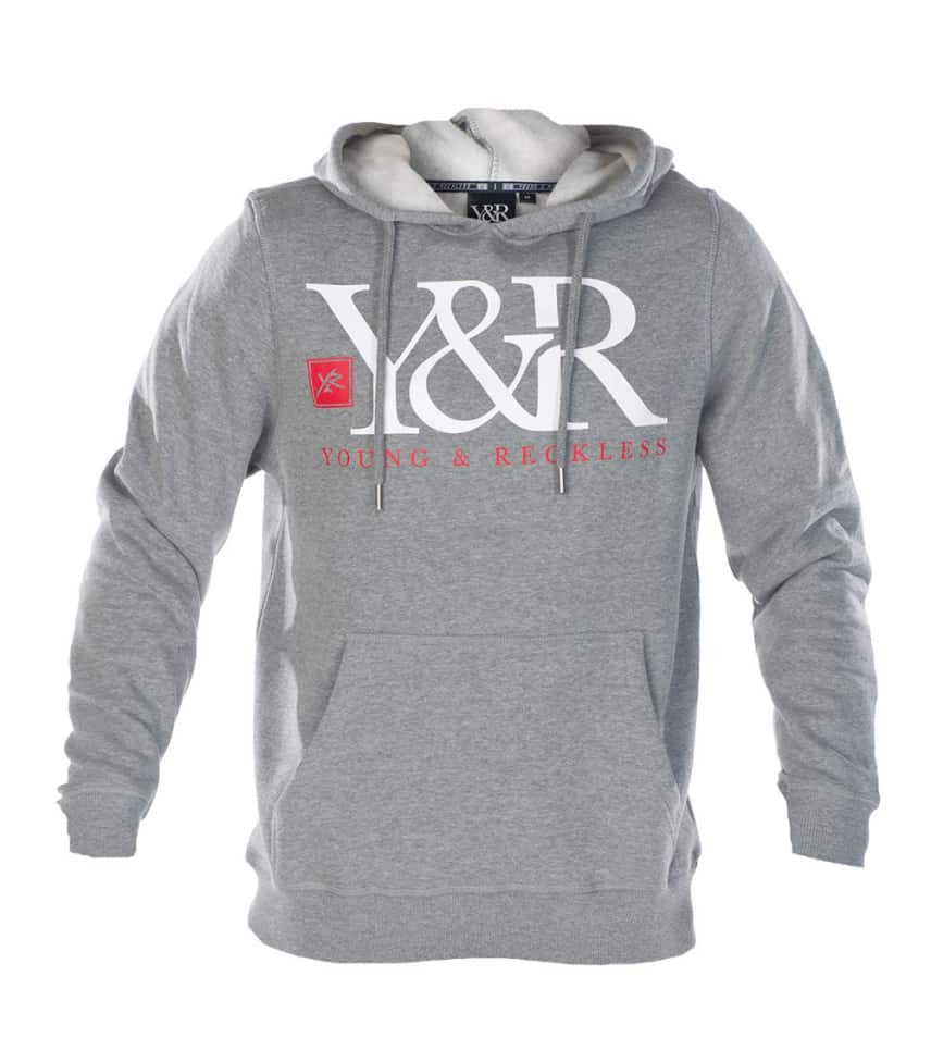 441f87e3c8757 Young And Reckless CORE LOGO PULLOVER HOODIE (Grey) - MHS658