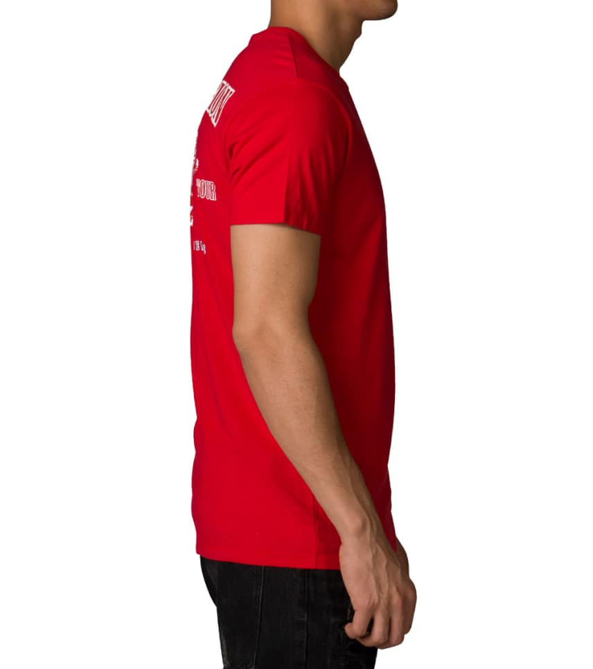 True Religion Double Puff Crew Neck Ss Tee Red Mjm8036b93r
