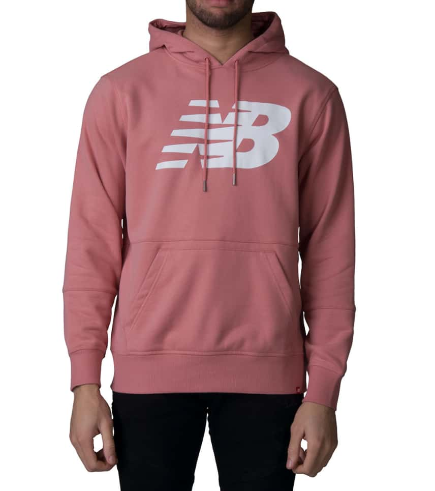 d3c04ebaf9ced New Balance Essentials Stacked Logo Hoodie (Medium Pink) - MT81557 ...