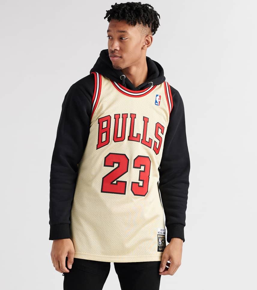 4f664666b98 Mitchell and Ness Chicago Bulls Michael Jordan Jersey (Gold ...