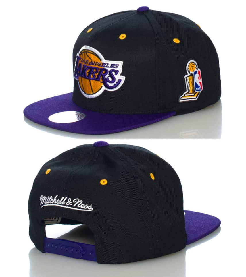 829ba919c30f15 Mitchell and Ness LA LAKERS CHAMPIONSHIP SNAPBACK CAP (Black ...