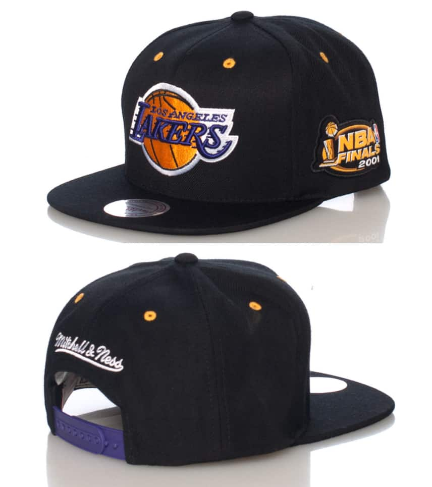 low priced 3c829 e773b MITCHELL AND NESS LA LAKERS CHAMPIONSHIP SNAPBACK CAP