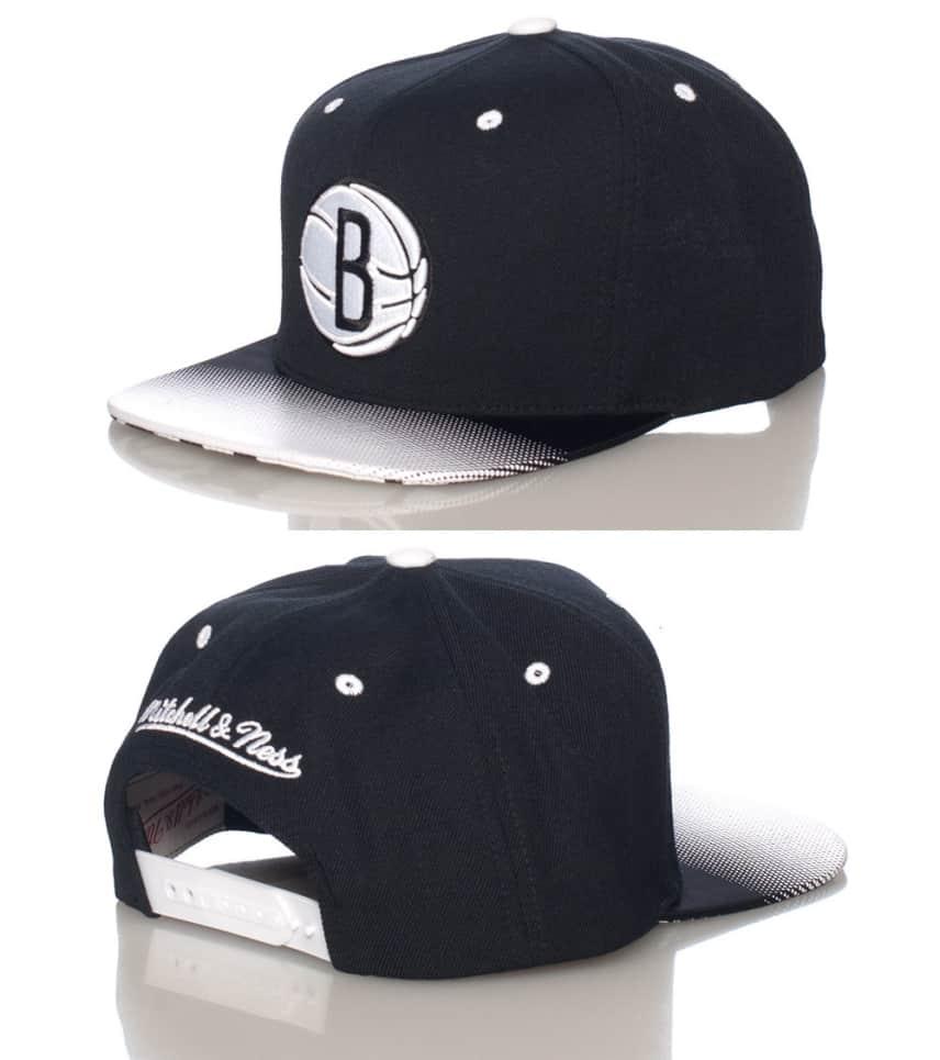 Mitchell and Ness Brooklyn Nets NBA Snapback Cap (Black ... 6d236d1a392