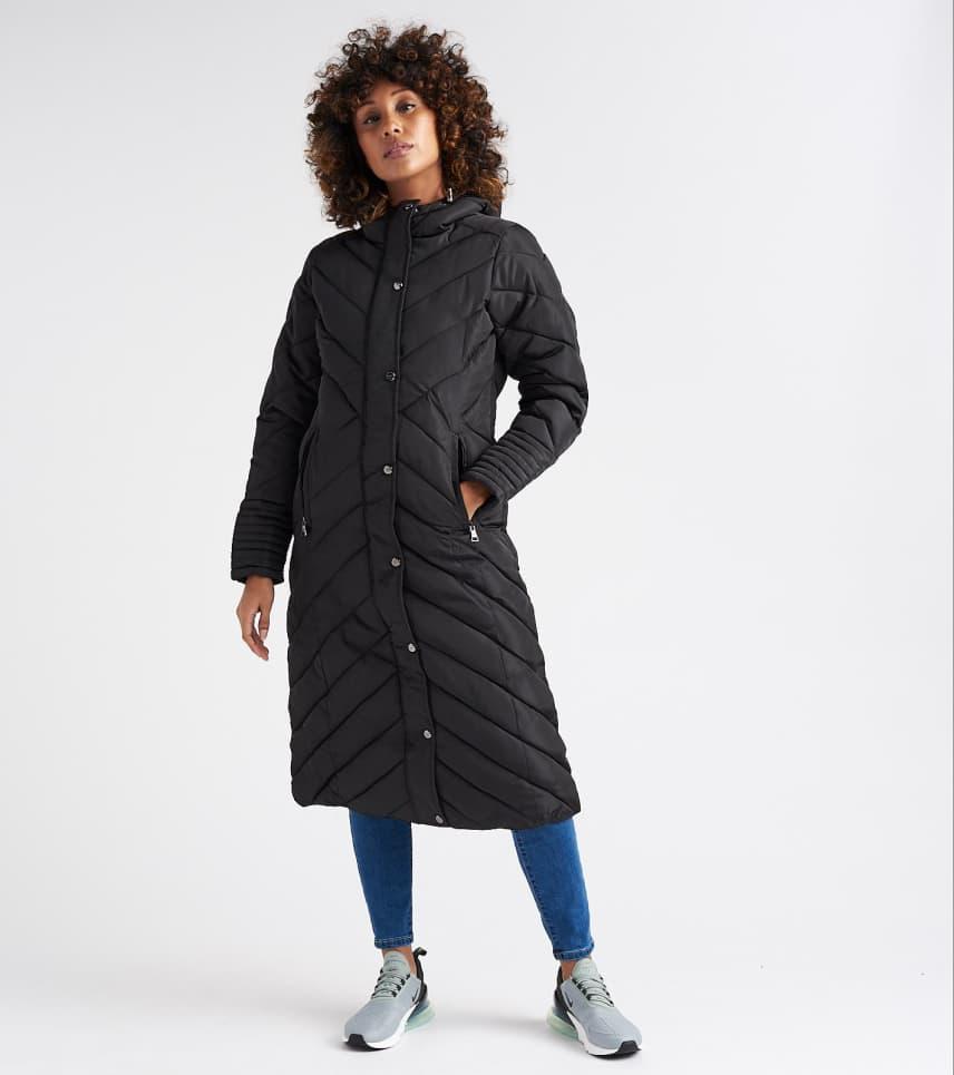 4ff58dfb0 Essentials Nylon Maxi Puffer Jacket (Black) - OLJ105H-BLK | Jimmy Jazz