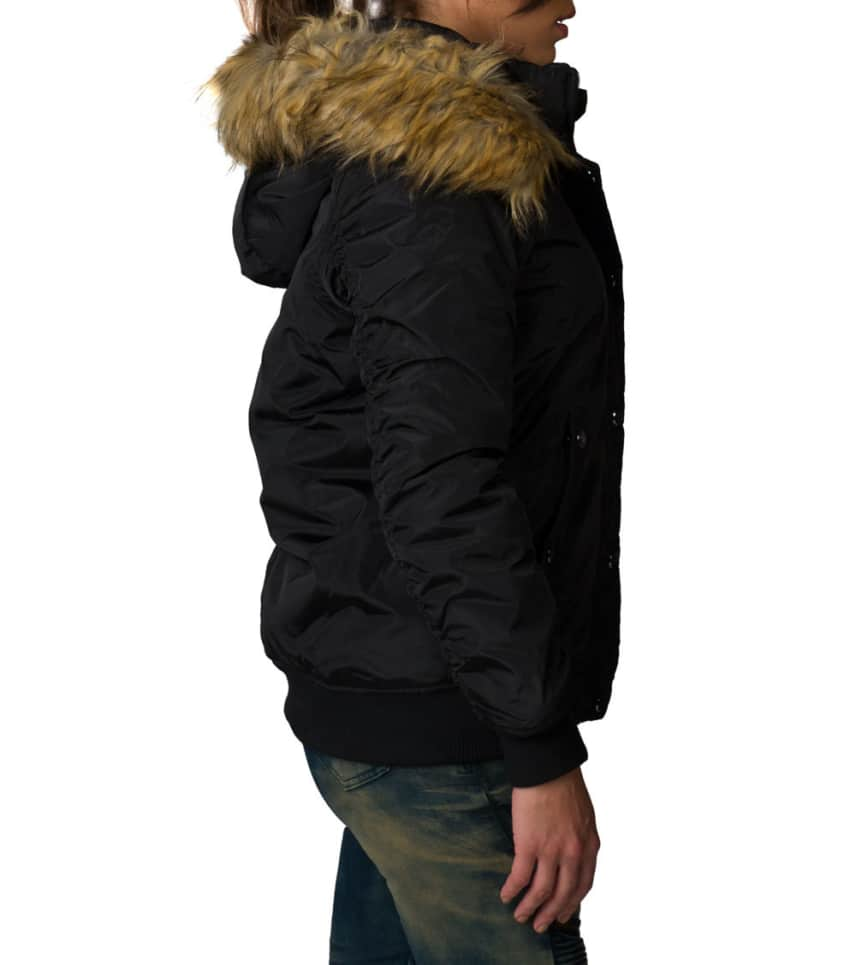 2782e93c7ce ... Essentials - Heavy Jackets - NYLON PLUSH LINED FUR HOOD BOMBER JACKET