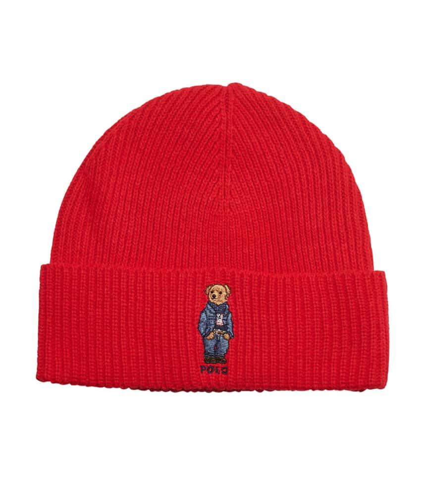 804cfe4dd90f8 Polo Jean Jacket Bear Cuff Beanie (Red) - PC0198-611