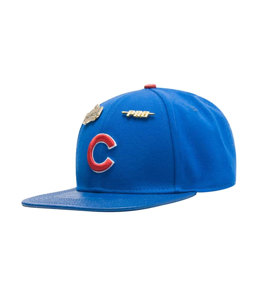 88c0e8fdecd Pro Standard Chicago Cubs Leather Strapback Hat (Blue) - PMCHCB0636 ...