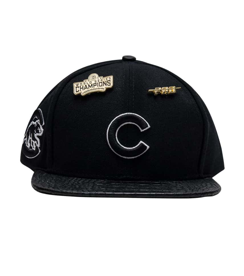 ad267933f2a ... Pro Standard - Caps Snapback - Chicago Cubs Leather Strapback Hat ...