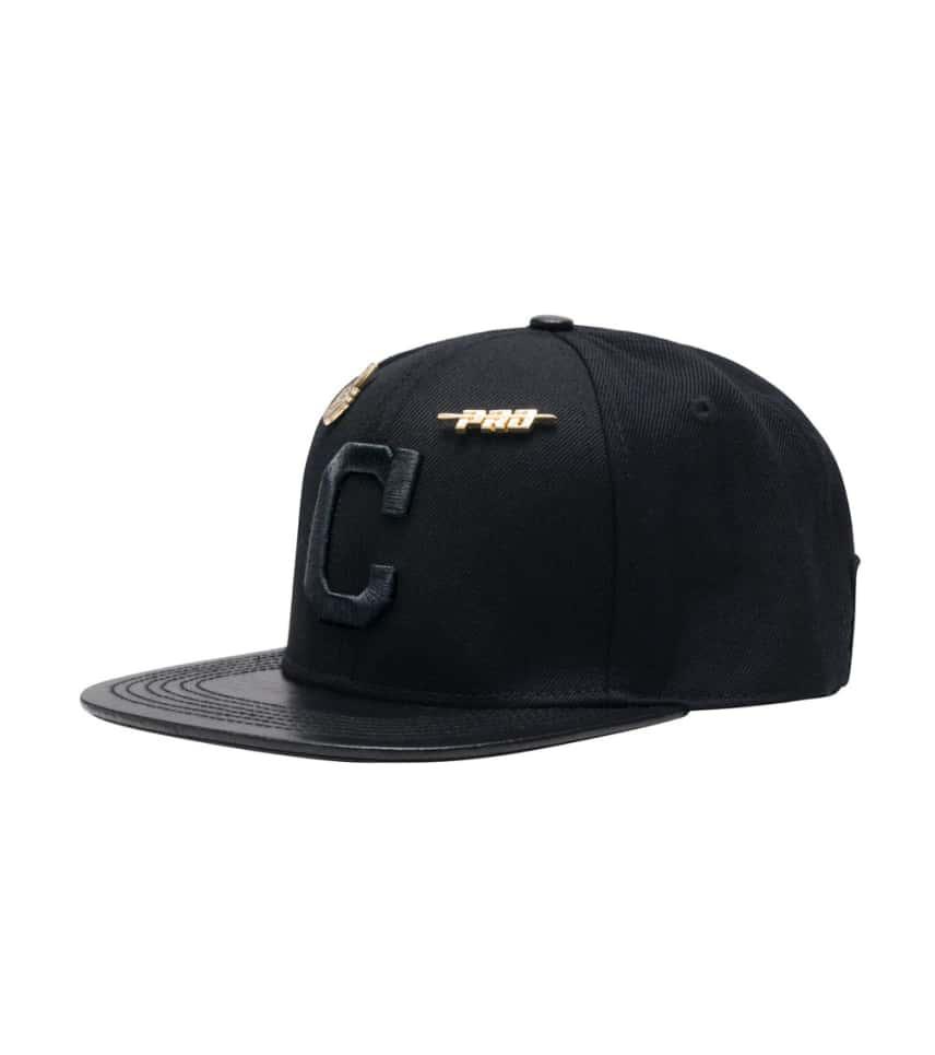 best cheap 8d42e ac9ea Pro Standard CLEVELAND INDIANS LEATHER STRAPBACK HAT.  19.98orig  60.00.  COLOR  Black