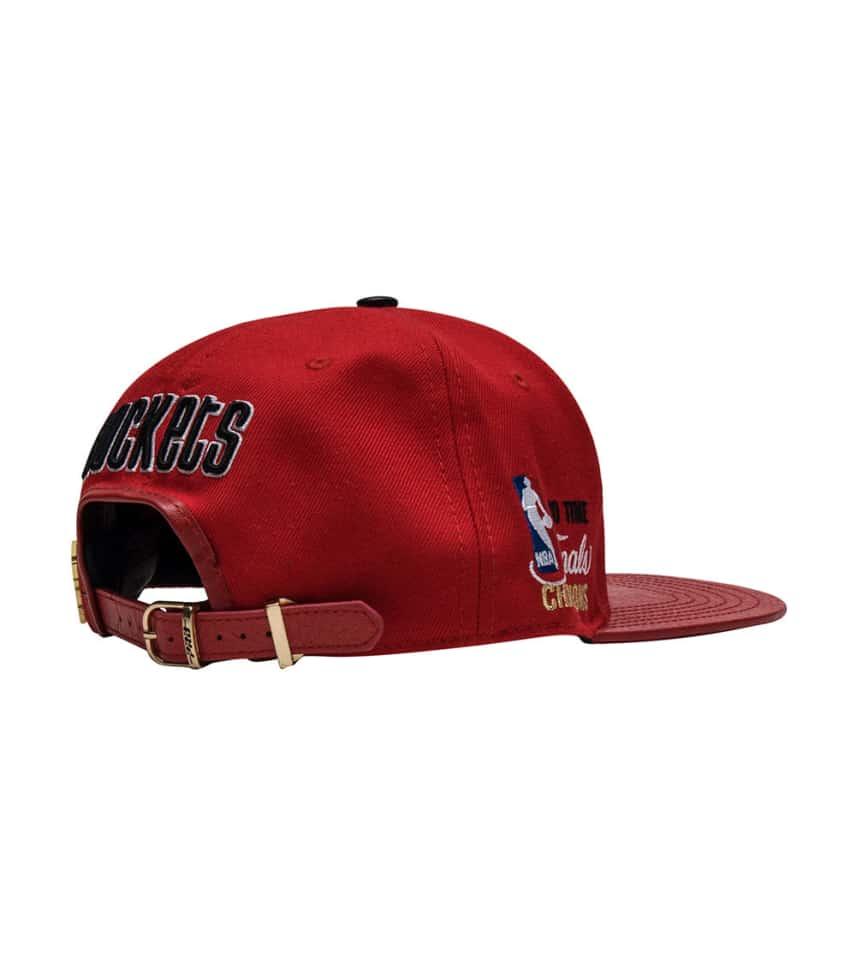 ... Pro Standard - Caps Snapback - ROCKETS HARDWOOD LEATHER STRAPBACK HAT  ... 8bfef9cc6de