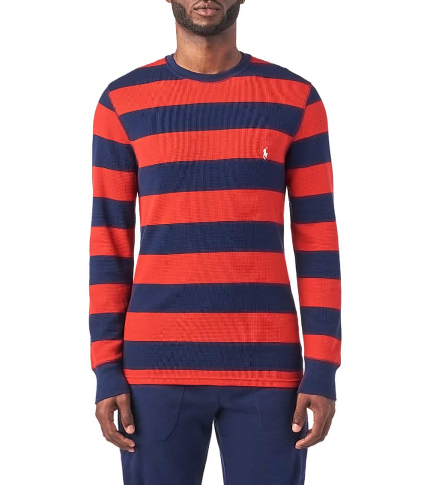 cc7d4500b Polo Long Sleeve Rugby Stripe Crew Thermal (Red) - PW62HF-QET ...