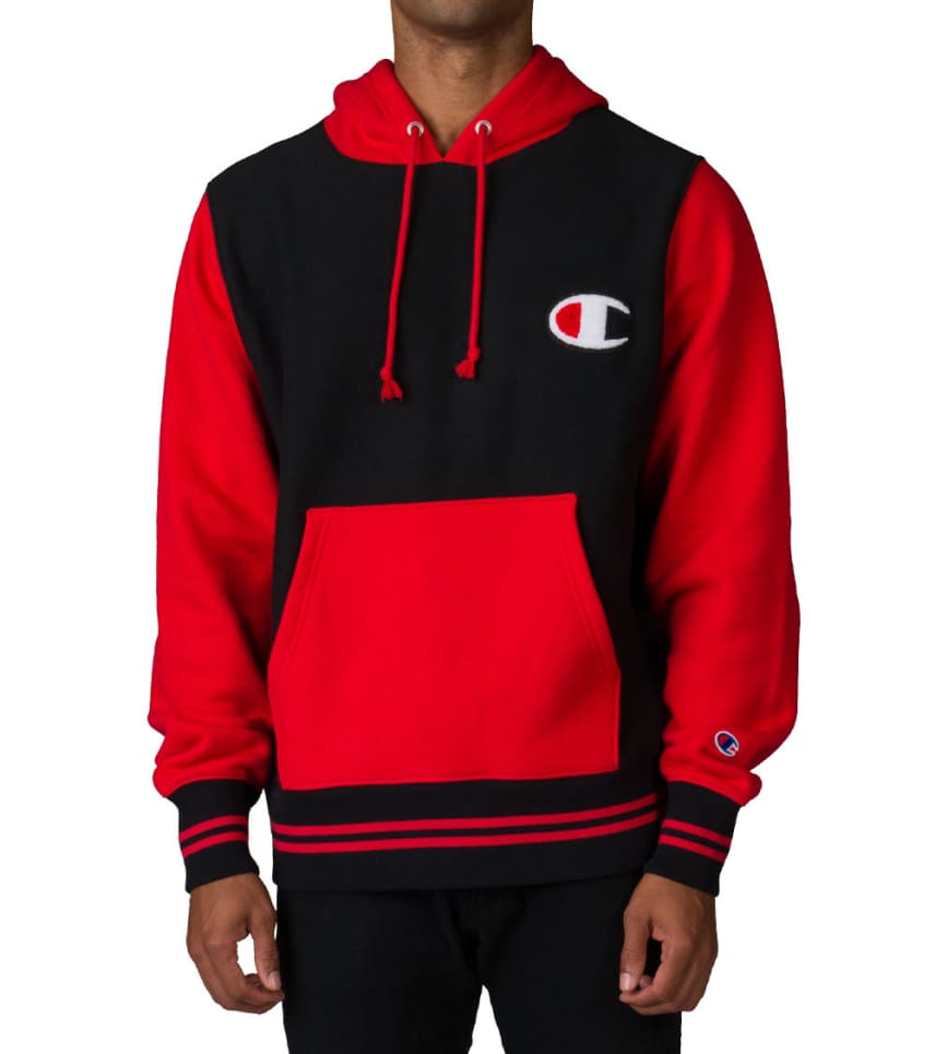 ad9681ed4693f ... Champion - Sweatshirts - REVERSE WEAVE COLOR BLOCK PO HOOD ...