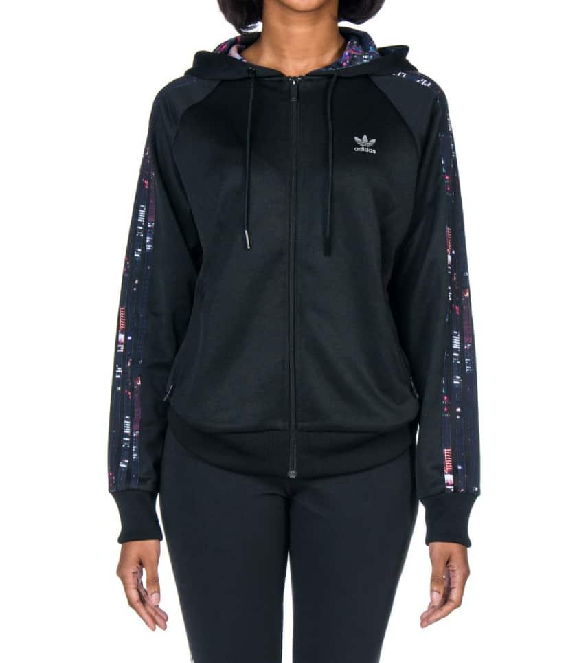 e55fdb25b0244d Adidas Hooded Flock Track Jacket Black S19870 Jimmy Jazz