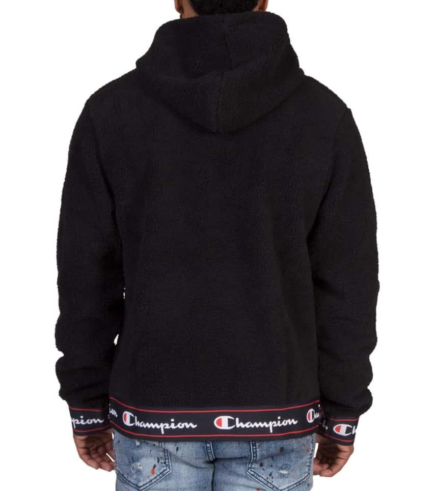 huge inventory 6f1d2 41de6 Champion Sherpa Half Zip Sweatshirt