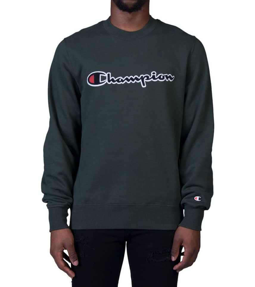 a5274941 Champion CHAMPION SUPER FLEECE SWEATSHIRT (Dark Green ...