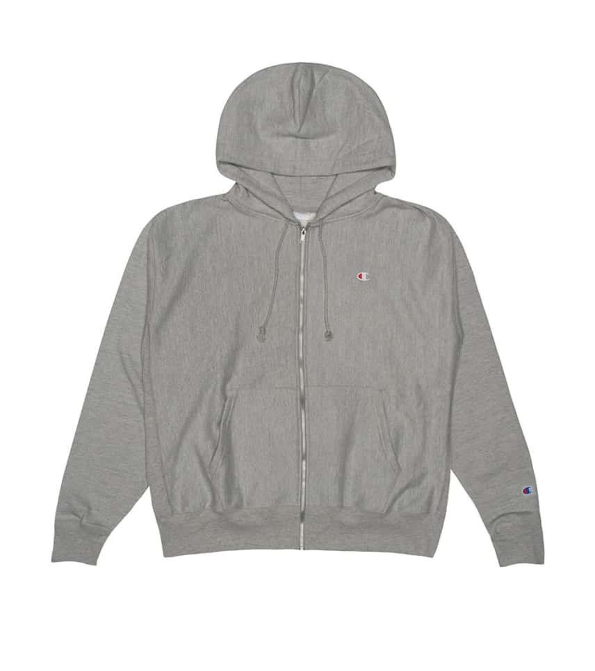 fd4254c4 Champion REVERSE WEAVE FULL ZIP HOODIE (Grey) - S4969 | Jimmy Jazz