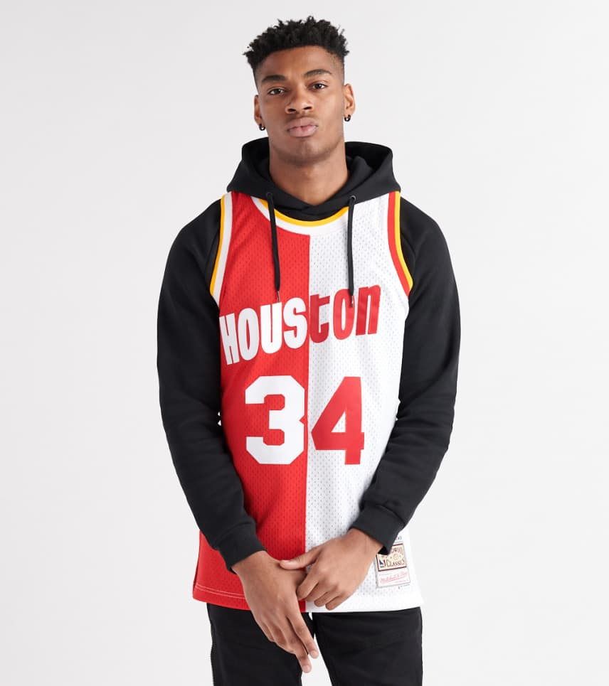 6ec599606 Mitchell And Ness Home & Away Hakeem Olajuwon Jersey (Red ...
