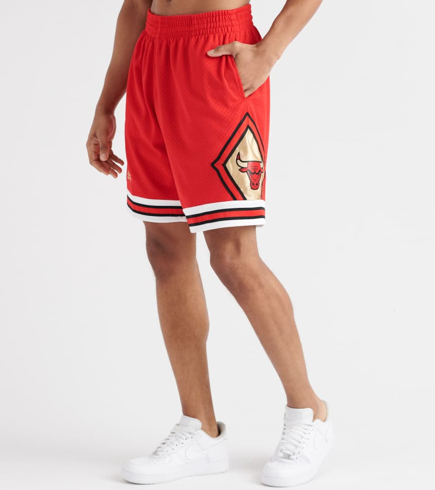 8350c2ca493aed Mitchell and Ness Chicago Bulls Swingman Shorts (Red) - SHORRED1-RED ...