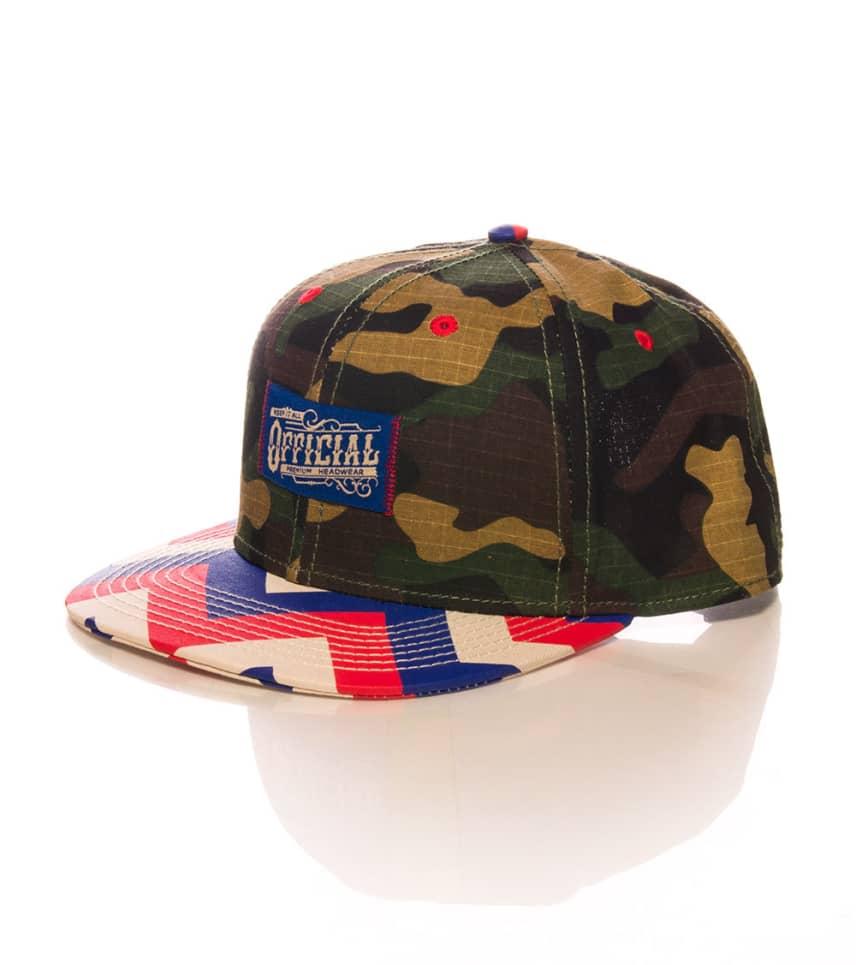 ed94a759653 OFFICIAL CROWN OF LAUREL Work Zag Snapback Hat (Multi-color ...