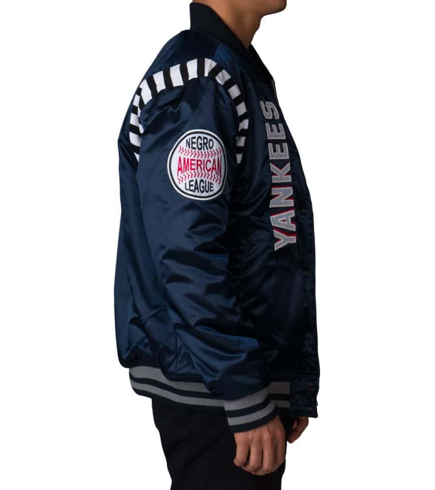b9167906356 ... Stall   Dean - Outerwear - BLACK YANKEES REVERSIBLE VARSITY JACKET ...
