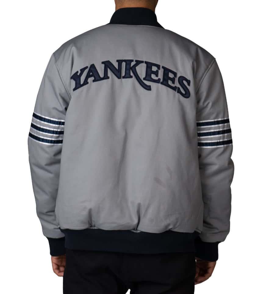 302aec973c4 ... Stall   Dean - Outerwear - BLACK YANKEES REVERSIBLE VARSITY JACKET