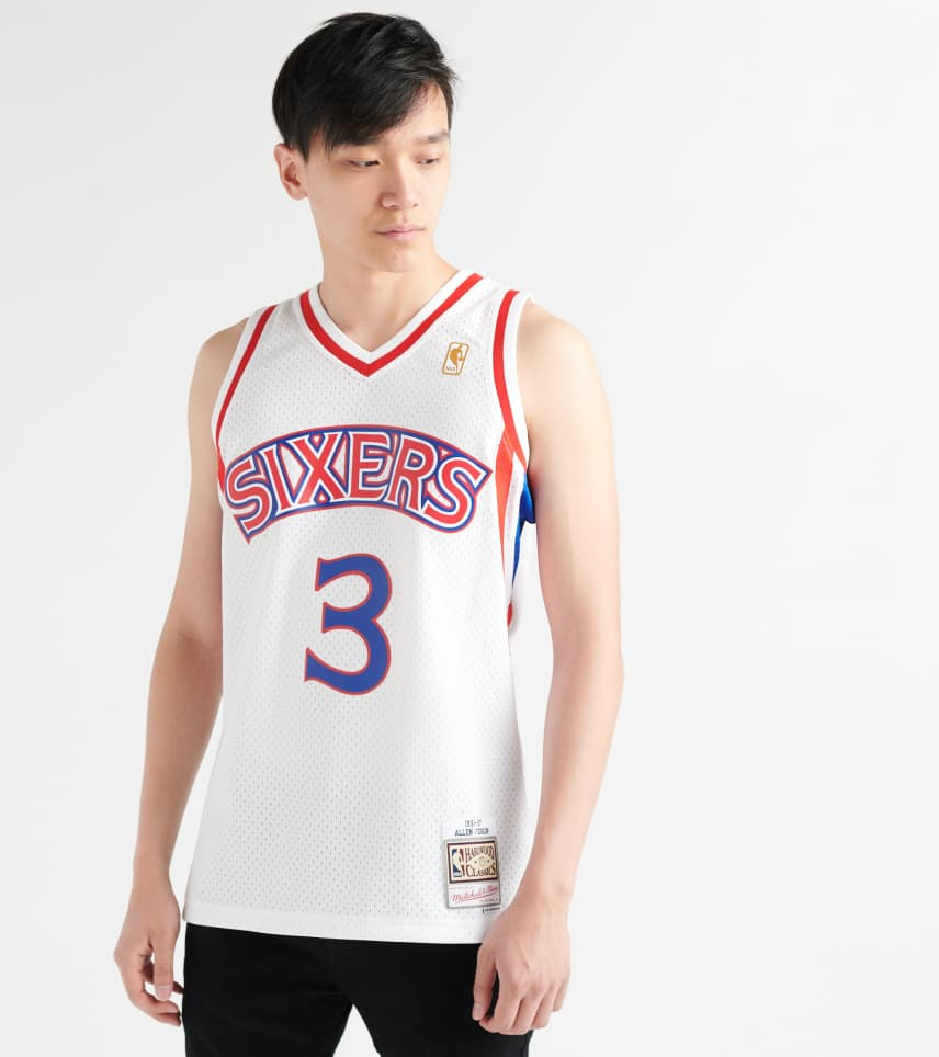 28cc8095d2c Mitchell and Ness Allen Iverson 76ers Swingman Jersey. $130.00. COLOR: White