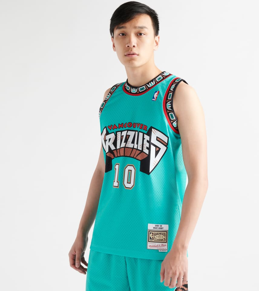 11c86557d Mitchell and Ness Mike Bibby Grizzlies Swingman Jersey (Green ...