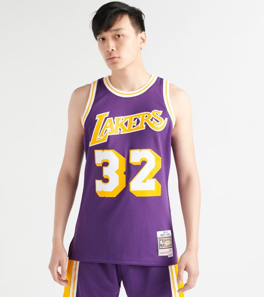 purchase cheap 11057 10009 Magic Johnson LA Lakers Swingman Jersey