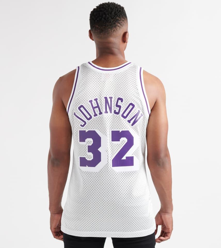 9849b77b7c7 ... Mitchell and Ness - Tank Tops - Magic Johnson LA Lakers Platinum Jersey  ...