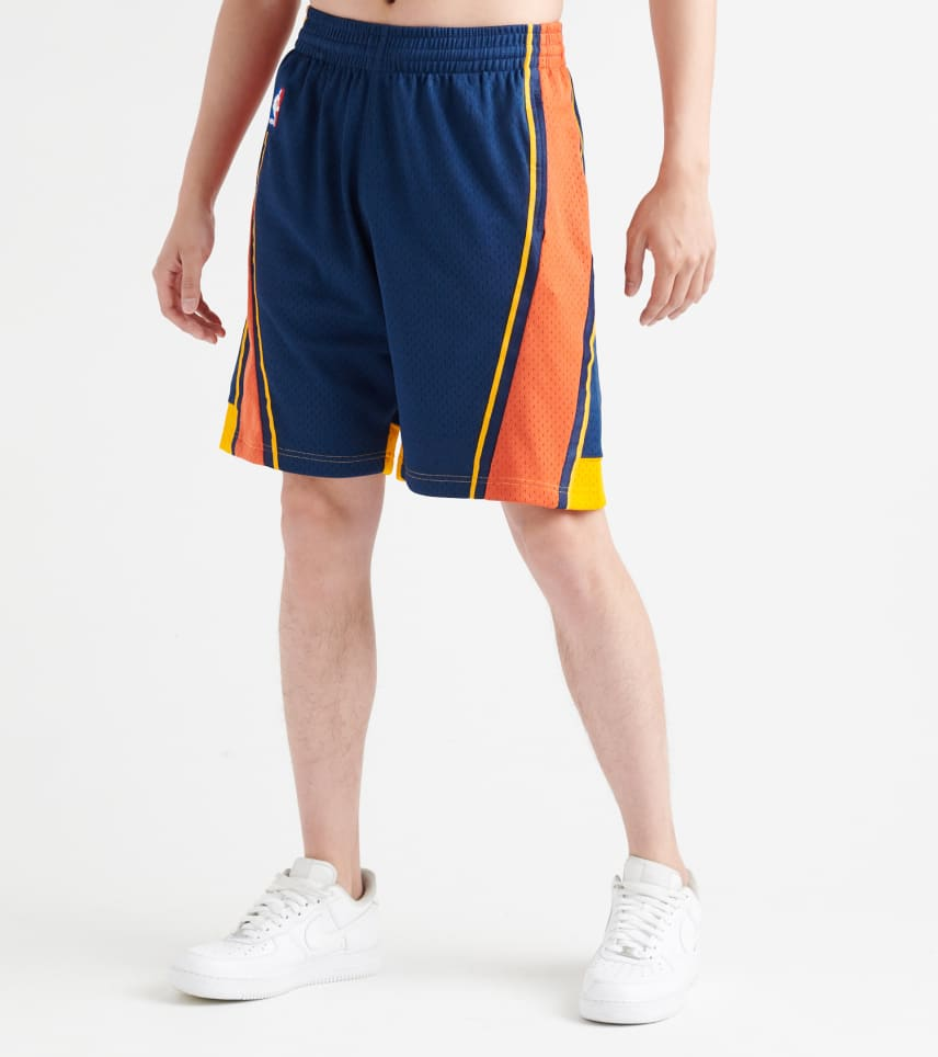 020e5c05 Mitchell and Ness Golden State Warriors Swingman Shorts (Navy ...
