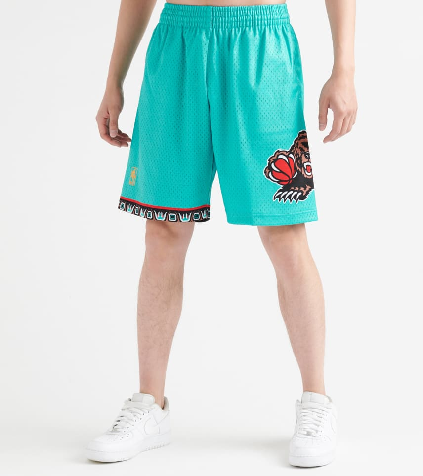 bb6bd24342 MITCHELL AND NESS Vancouver Grizzlies Swingman Shorts (Green ...