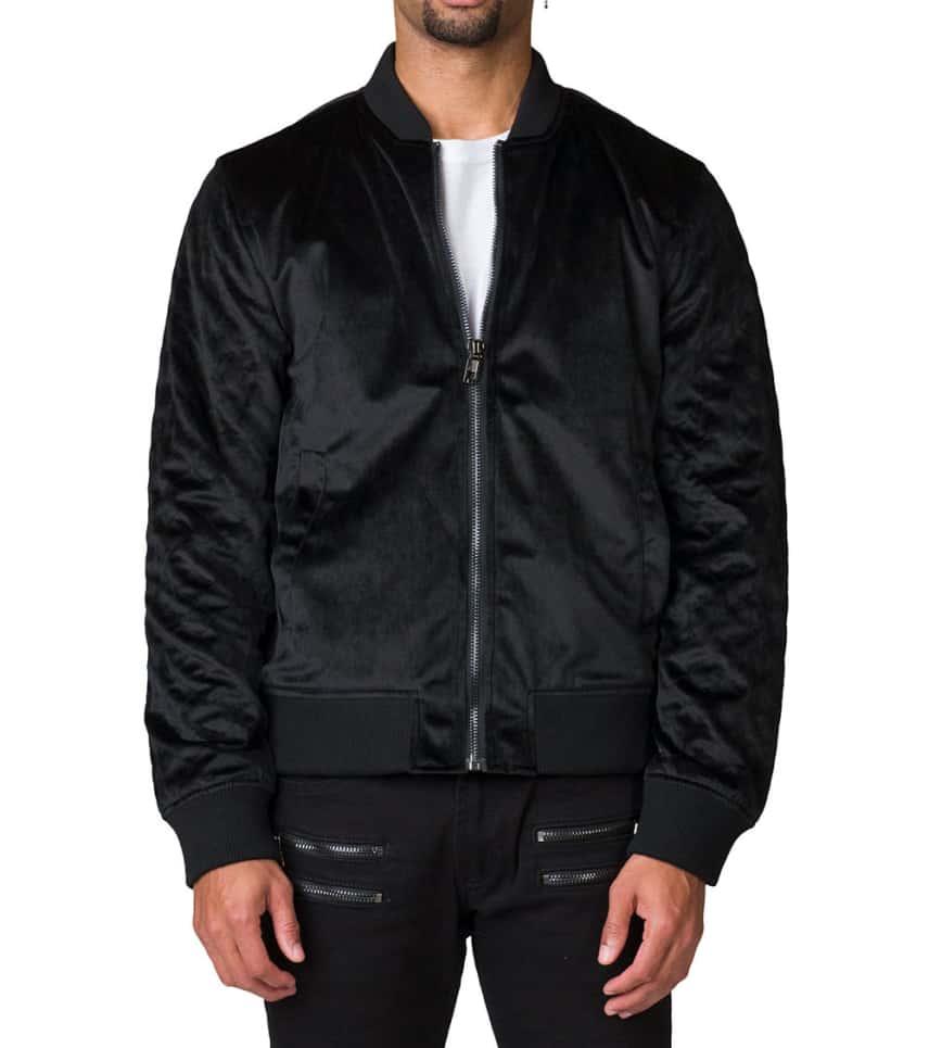 001b5455f Velour Bomber Jacket