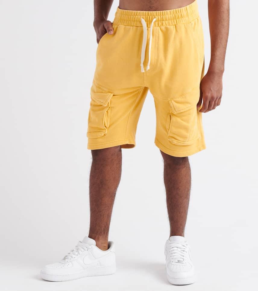 0a0291c081 Decibel Drawstrings Cargo Shorts (Yellow) - SS19S50-YLW | Jimmy Jazz