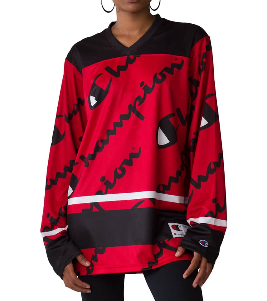 349e44b5e8c Champion Logo Hockey Jersey (Red) - T1073PT