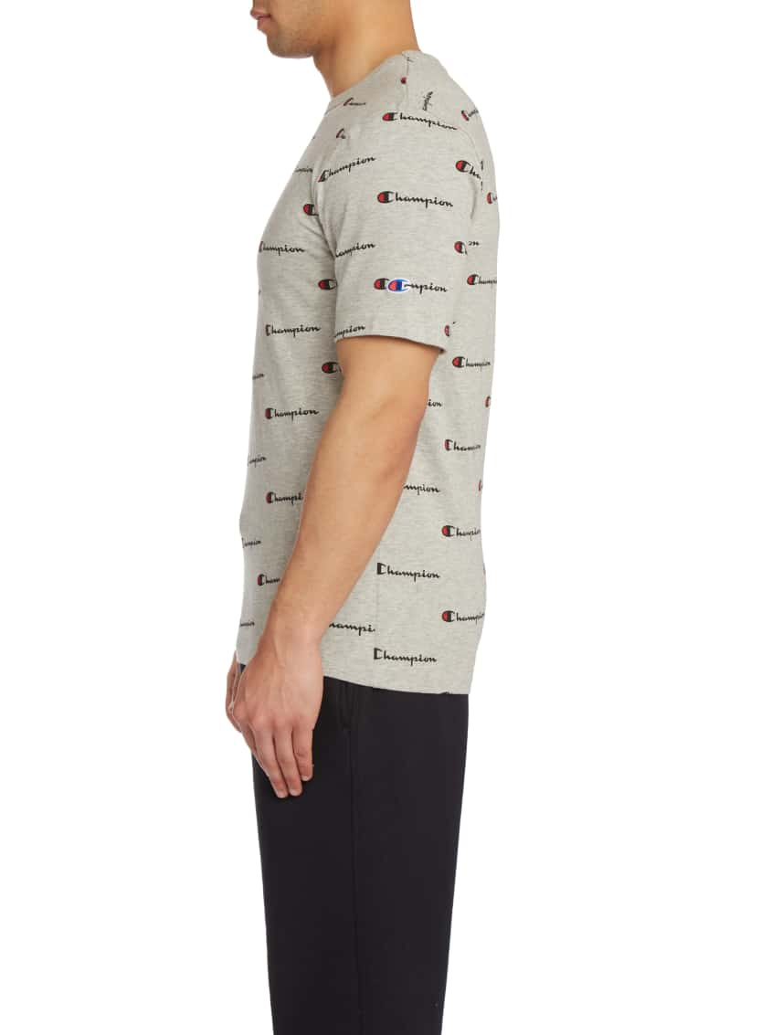 4457f8acece4 Champion Heritage All Over Script Tee (Grey) - T1919S-AAQ | Jimmy Jazz
