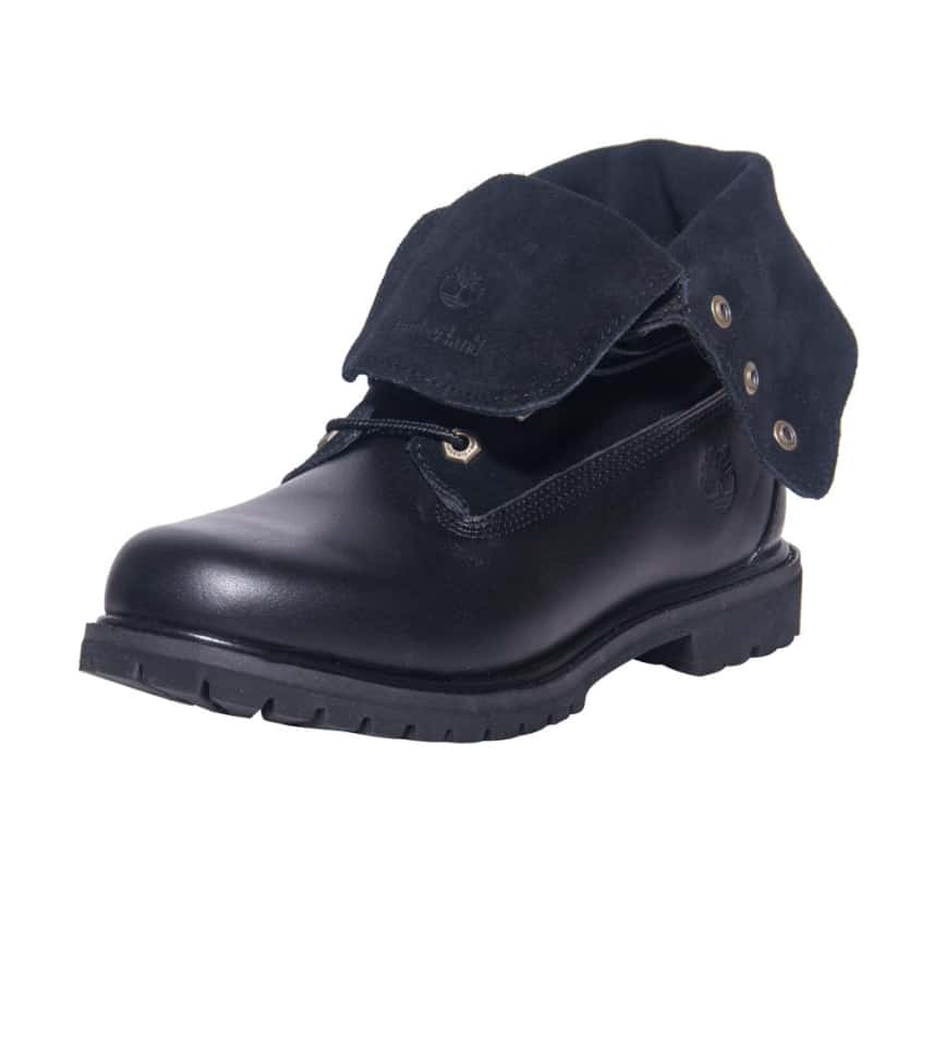 womens black roll top timberland boots