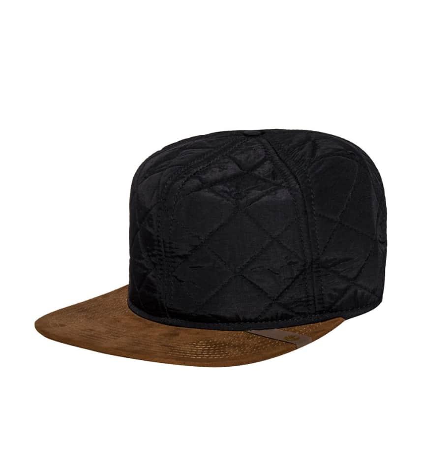 Timberland QUILTED NYLON FLAT BRIM STRAPBACK CAP (Black) - TH340212 ... 6b1c77819382