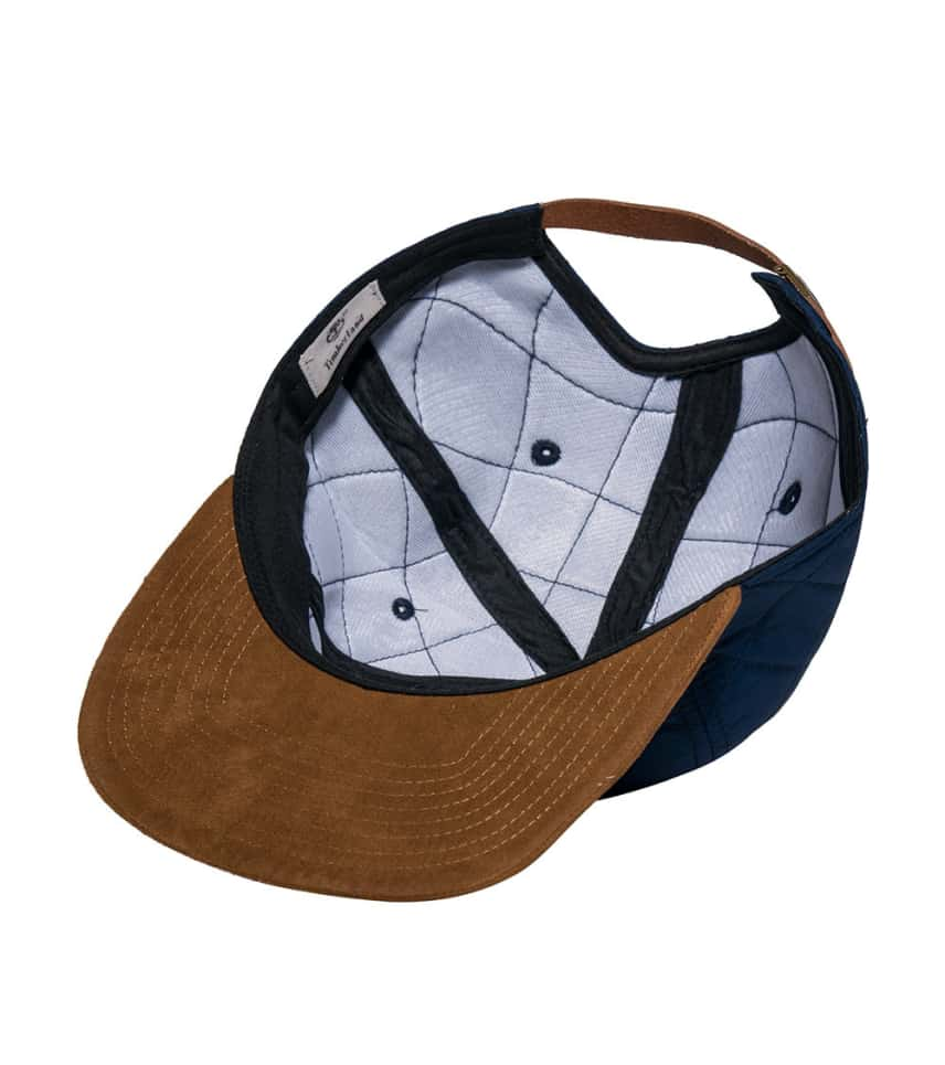 Timberland Quilted NYlon Flat Brim Strapback Cap (Navy) - TH340212 ... 214aaa7cb240