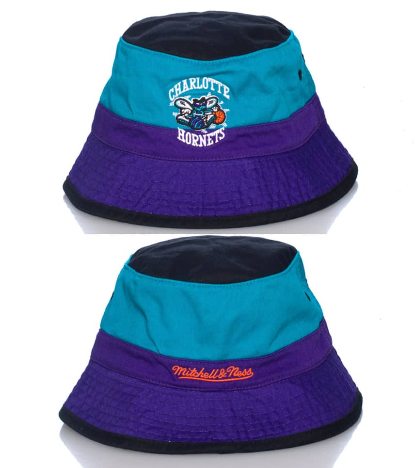 Mitchell and Ness Charlotte Hornets NBA Bucket Hat (Multi-color ... 2a92f363a7f