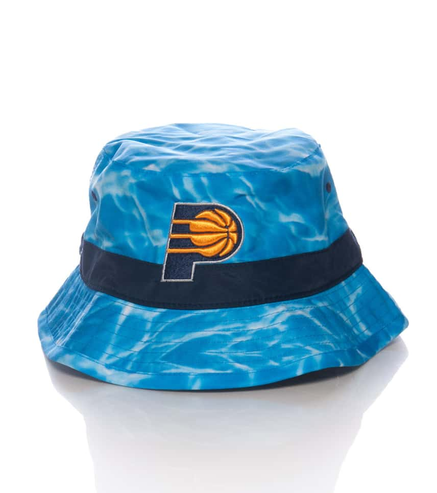 d5b01d4d7f5 Mitchell and Ness PACERS SURF CAMO BUCKET HAT (Medium Blue ...