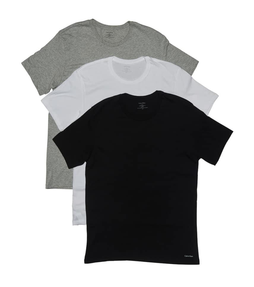 1427493468 Calvin Klein 3 Pack SS Crew Neck T-Shirts (Multi-color) - U4001-900 ...